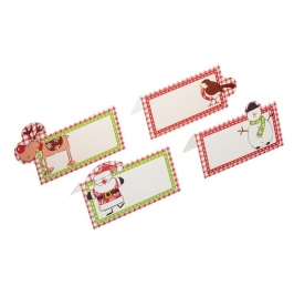 Juego de 12 tarjetas de Lugar Santa & Friends