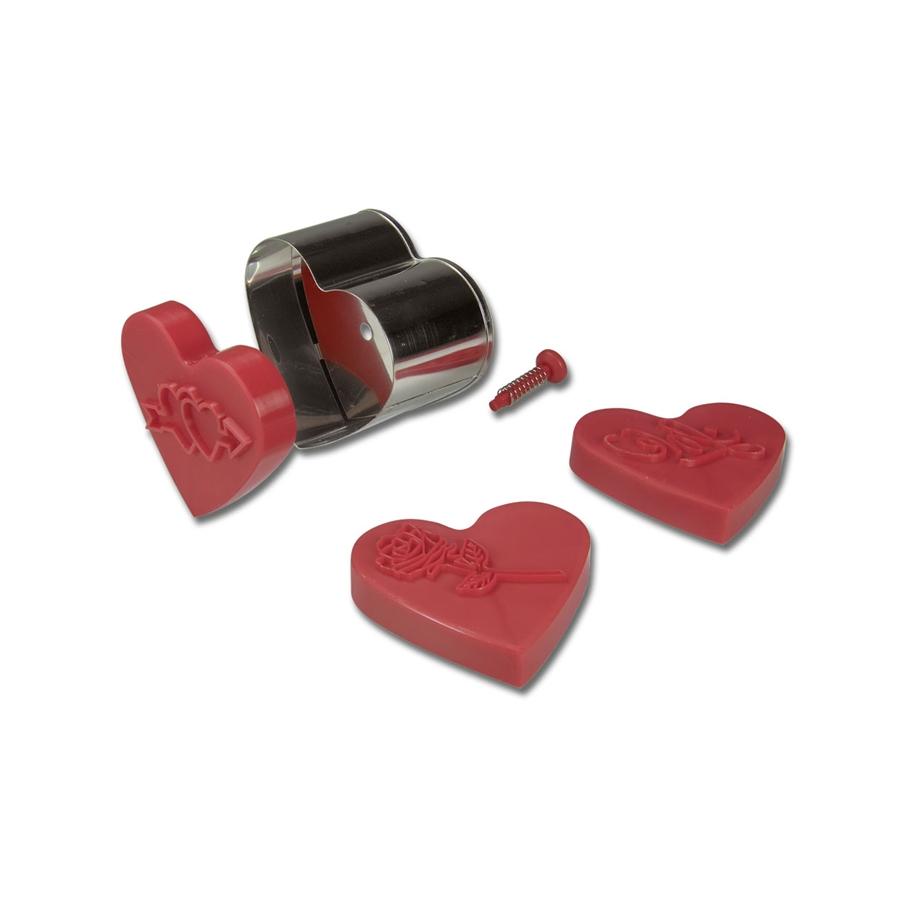 Set 3 corazones con expulsor