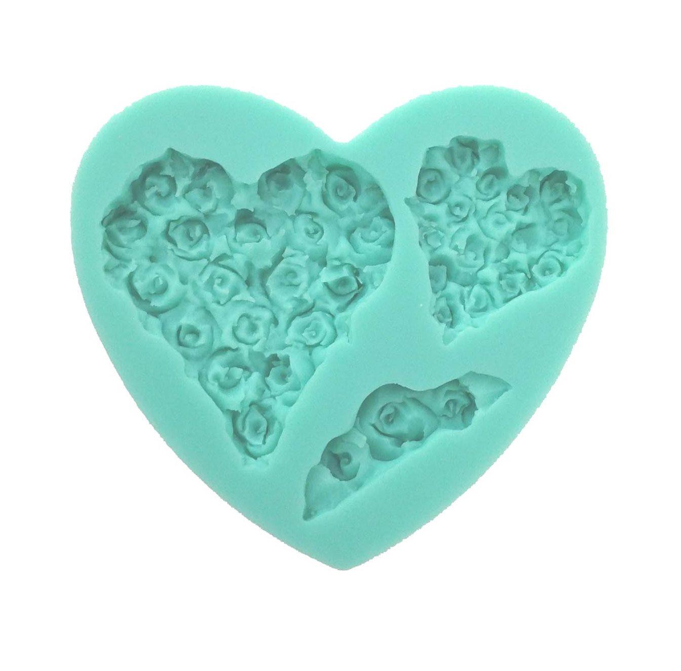 Molde de silicona Heart & Roses