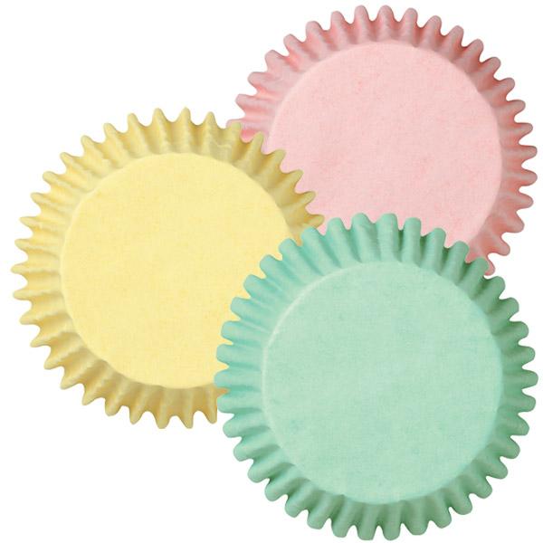 Cápsulas cupcakes colores pastel (75 uds)