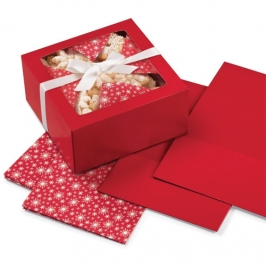 Set 3 Cajas rojas con papel interior