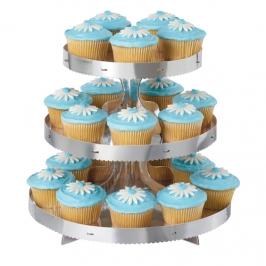 Stand para Cupcakes color Plata
