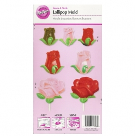 Molde para piruletas Rosas