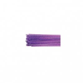 Alambre para flores púrpura metalizado (50 uds)
