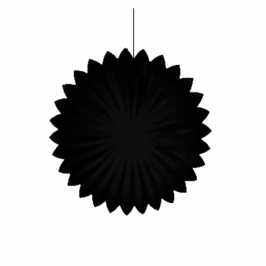 Abanico Negro de 35 cm