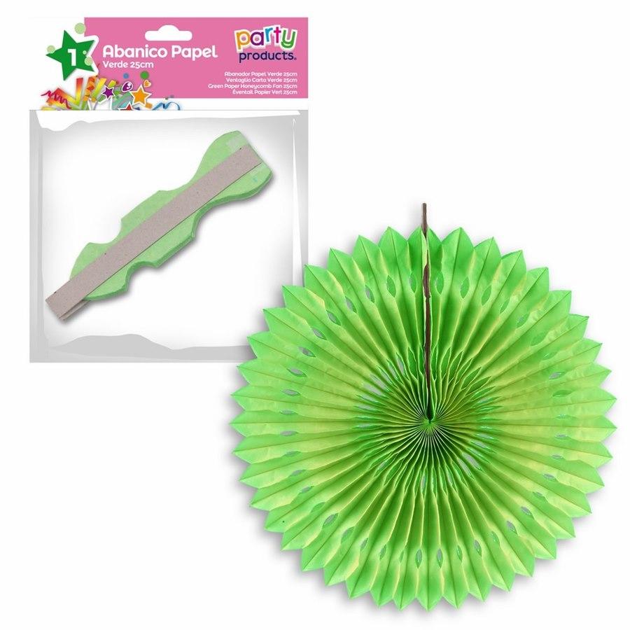 Abanico verde 25cm