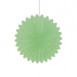 Abanico Verde Pastel de 35 cm