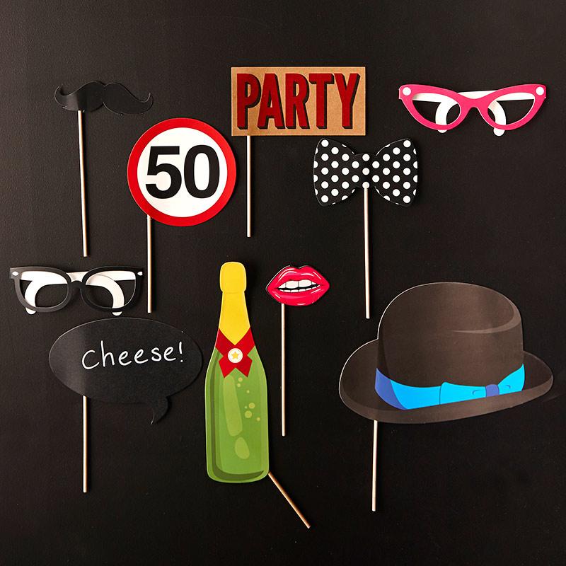 Accesorios para Photocall 50 Cumpleaños