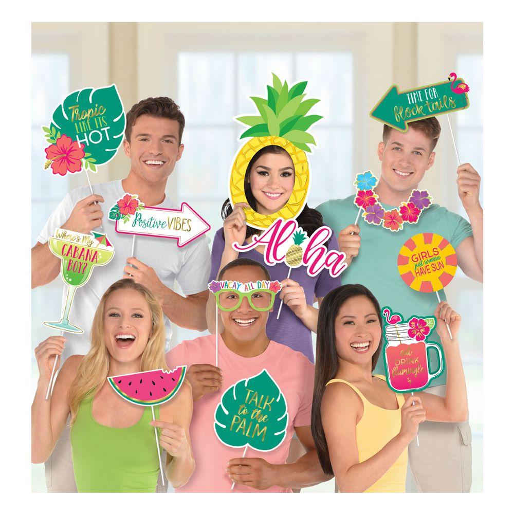 Set de 12 Accesorios para Photocall Aloha Jumbo