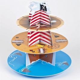 Stand para cupcakes Barco Pirata