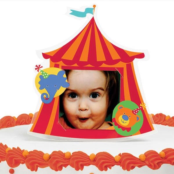 Adorno con foto para tartas circo