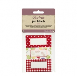 Pack 30 etiquetas adhesivas para Botes Vintage Red