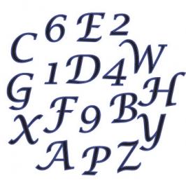 Cortador de Letras Mayúsculas Cursiva