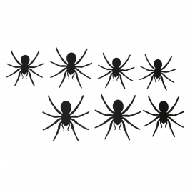 Arañas de Cartón 12,5 cm 12 ud