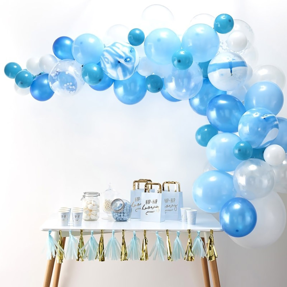 Arco de globos para fiestas en color azul