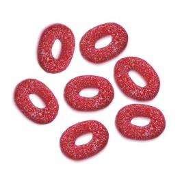 Aros de Azúcar Fresa Pica 1 Kilo