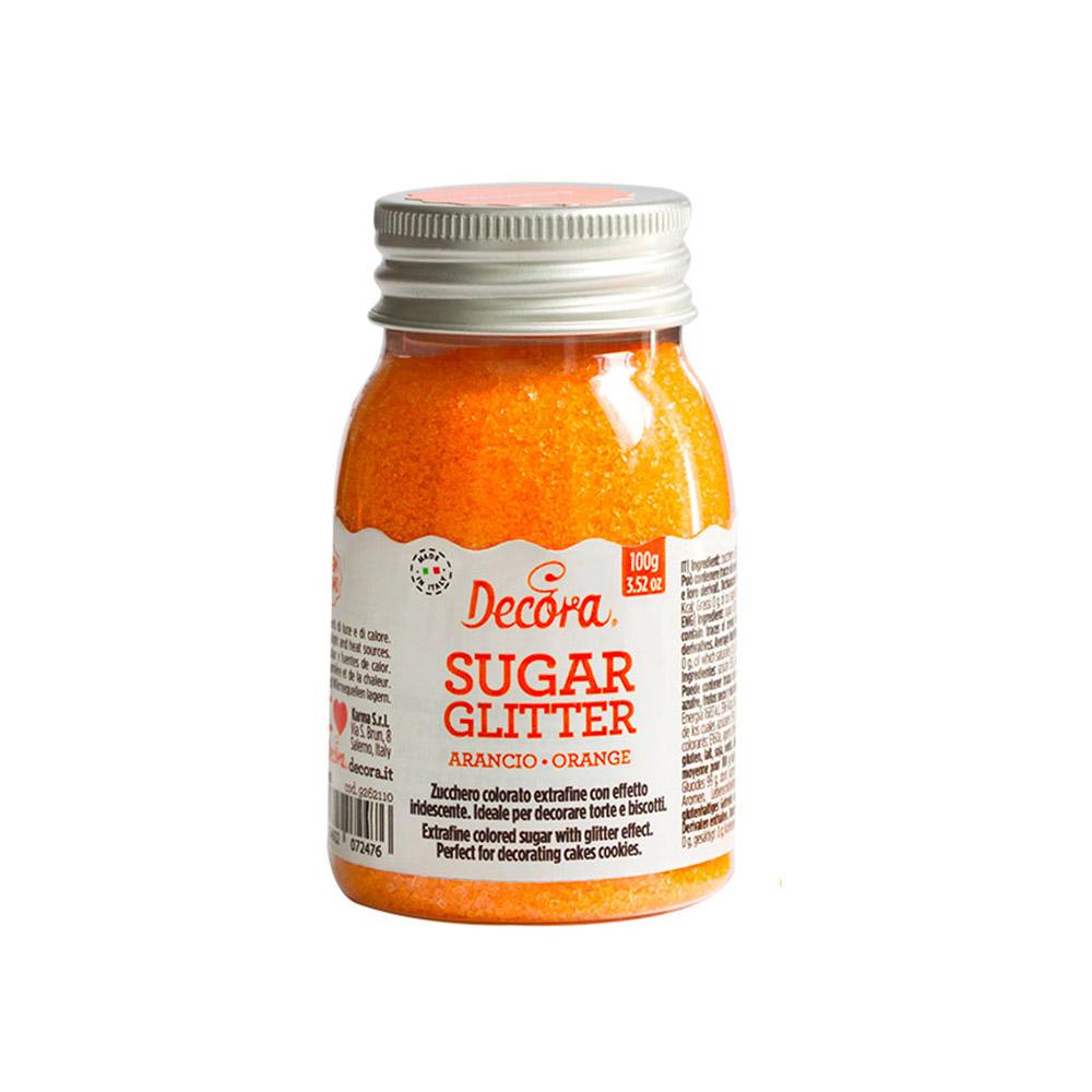 Azúcar Brillante Naranja 100 gr