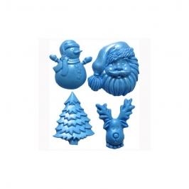 Molde de Silicona Navidad 4 Diseños