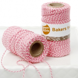 Bakers twine rosa 20mts