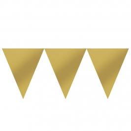 Banderín de Papel Dorado 4,5 metros