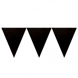 Banderín de Papel Negro 4,5metros