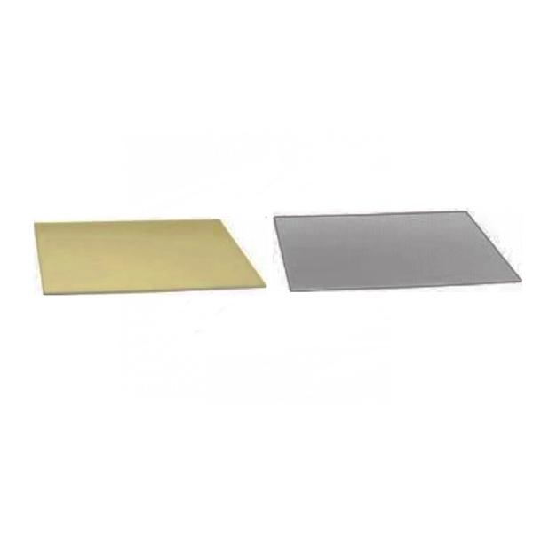 Base Rectangular para Tartas Plata/Oro 35 x 45 cm