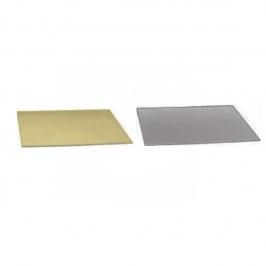 Base rectangular para tartas plata/oro 40 x 60 cm