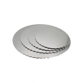 Base Redonda para Tarta Plateada 25 cm