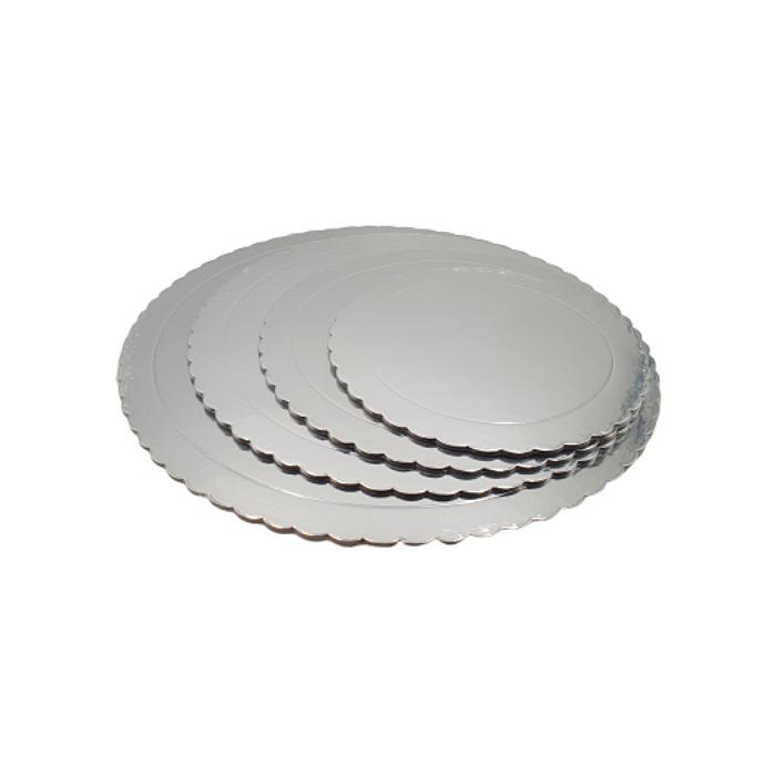 Base Redonda para Tarta Plateada 30 cm