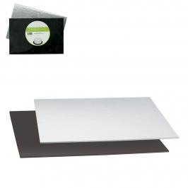 Base Rígida Rectangular Negra y Plata 20 x 30 cm