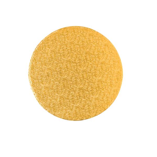 Base Rígida Redonda Dorada 22 cm x 3 mm