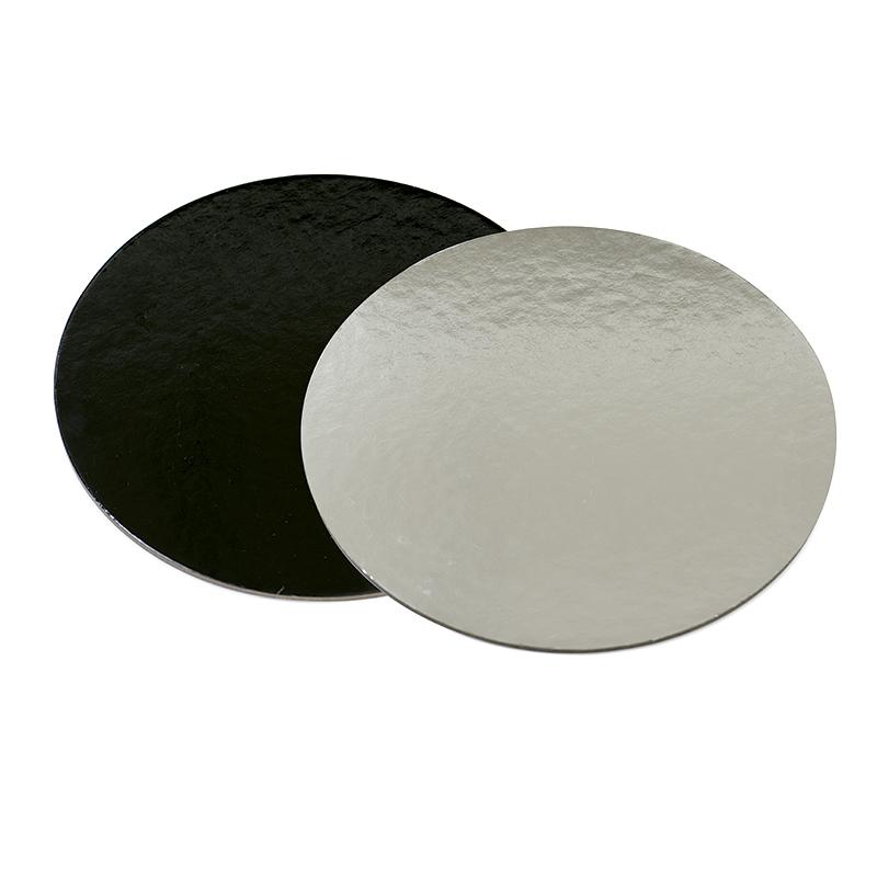 Base rígida redonda negro/plata 28 cm