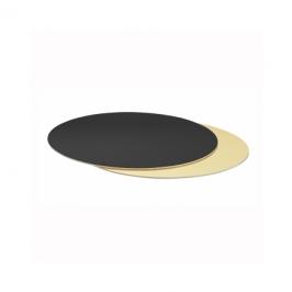 Base rígida redonda negro/plata 28cm