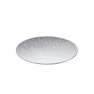 Base rígida redonda plateada 33cm x 3mm