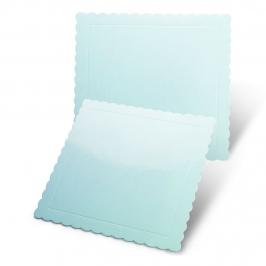 Base Cuadrada Azul para Tartas 25 cm