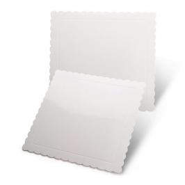 Base Cuadrada Blanca para Tartas 25 cm