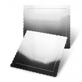 Base Cuadrada Plata para Tartas 25 cm