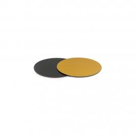 Base Rígida Redonda Negro/oro 10 cm