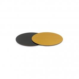 Base Rígida Redonda Negro/oro 15 cm