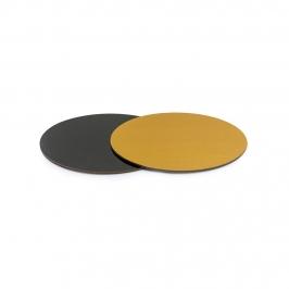Base Rígida Redonda Negro/oro 20 cm