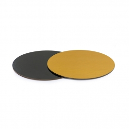 Base Rígida Redonda Negro/oro 25 cm