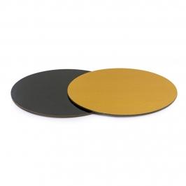 Base Rígida Redonda Negro/oro 30 cm