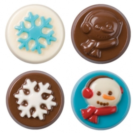 Molde Para chocolate Winter Wish