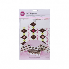 Set de 3 cajas para chocolates y galletas Love