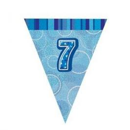 Guirnalda Nº 7 Azul Brillante