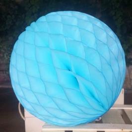 Pompón Nido de Abeja azul turquesa 20 cm