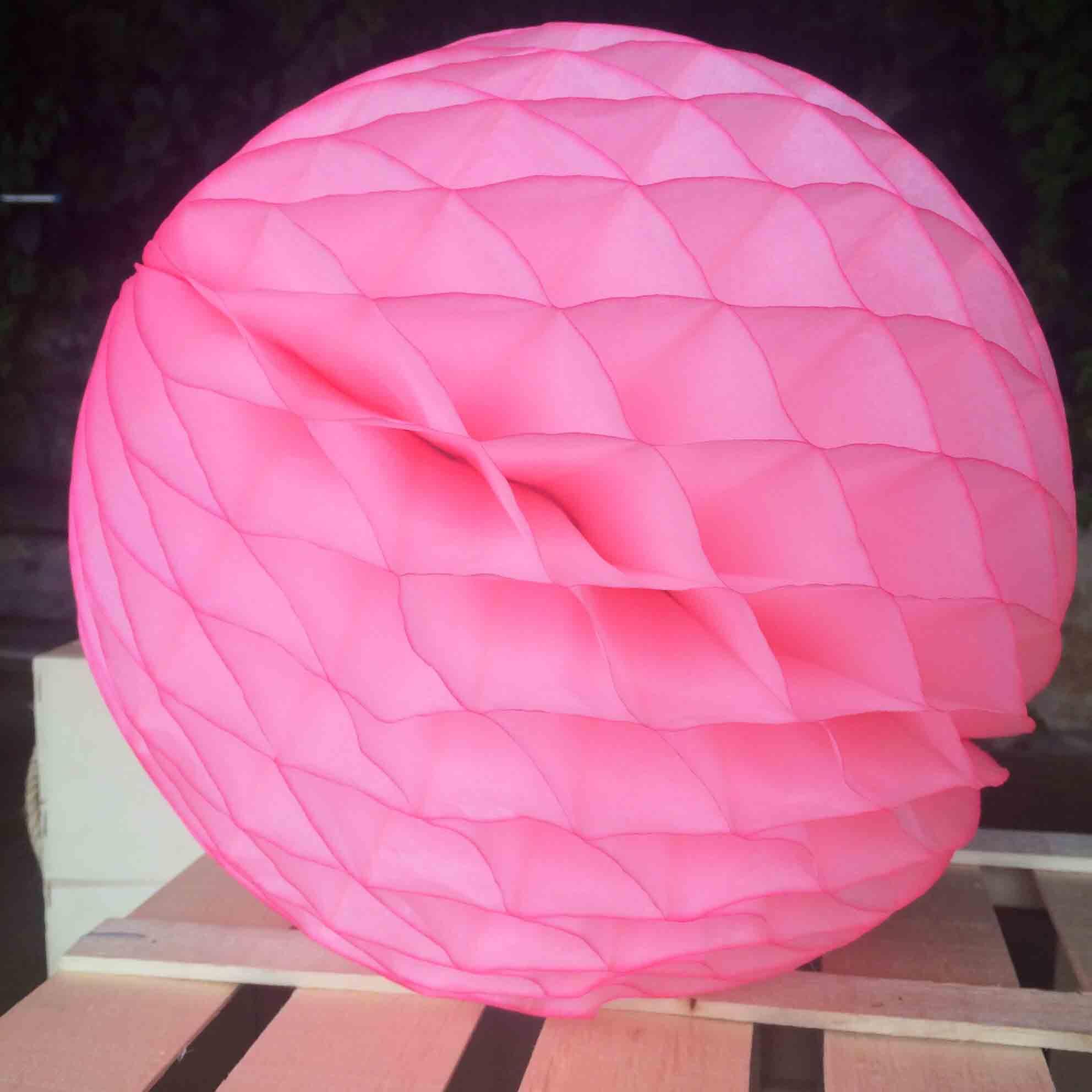 Pompón Nido de Abeja rosa 30 cm