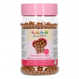 Bolitas Crujientes de Chocolate y Caramelo Salado