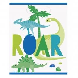 Bolsas para Chuches dinosaurio Azul y Verde 8 ud