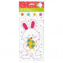 Bolsas para Dulces Conejo y Huevo de Pascua